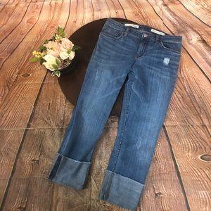 Pilcro Hyphen 28 Crop Jeans Anthropologie